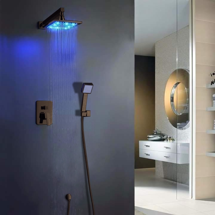 Fontana Oil Rubbed Bronze Shower System With Shower Head and Hand Shower
