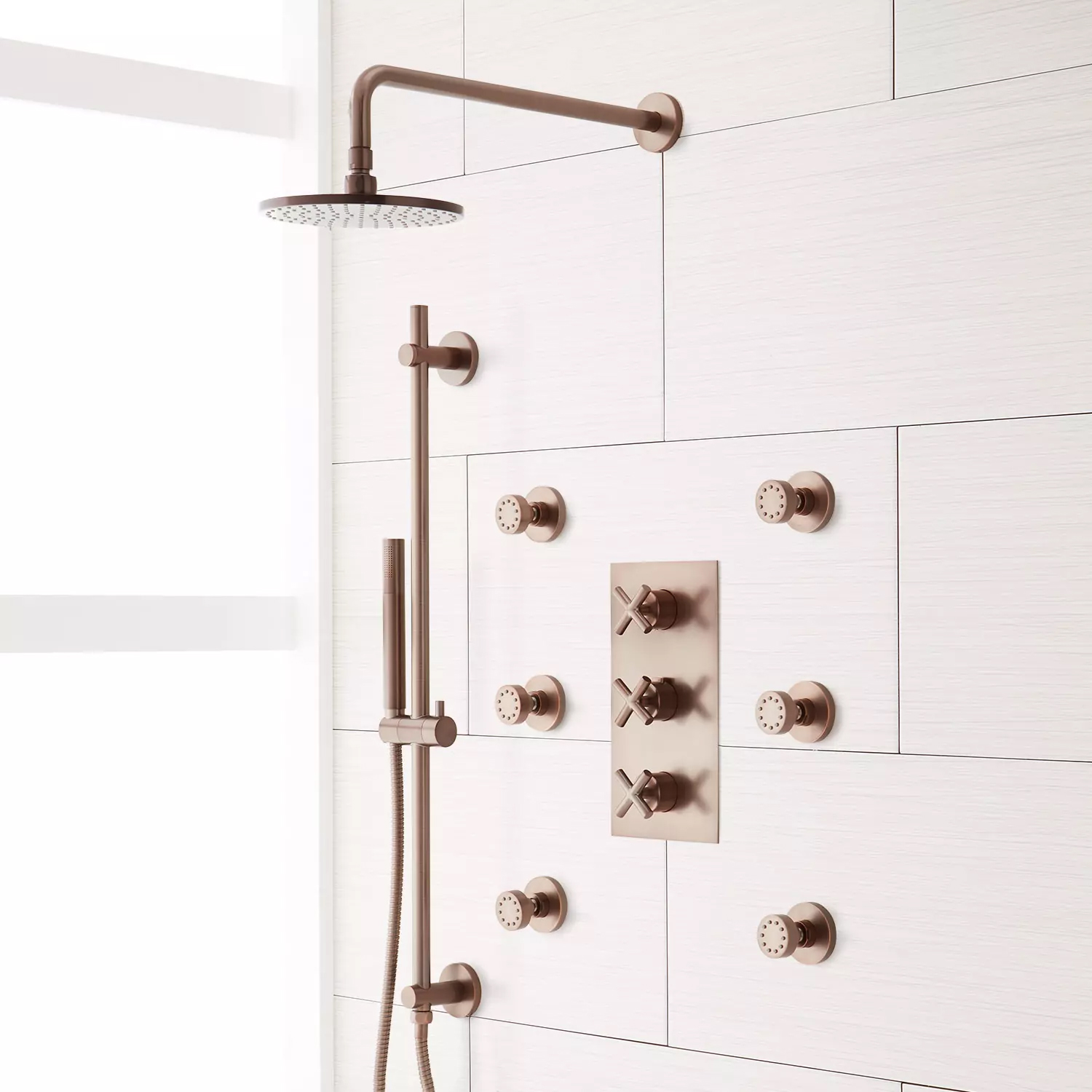 Fontana Perlude Oil Rubbed Bronze Thermostatic Shower System