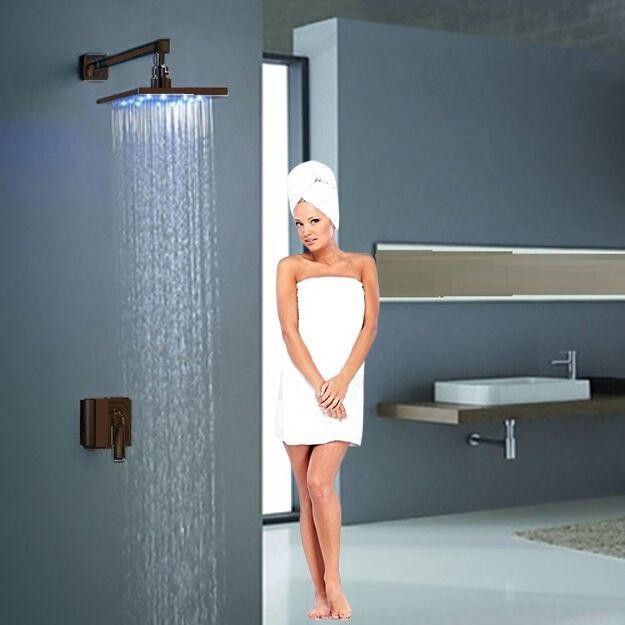 oil rubbed bronze led rain shower head. Rivera LED Rain Shower Set Features  8 10 12 16 FontanRivera Oil Rubbed Bronze
