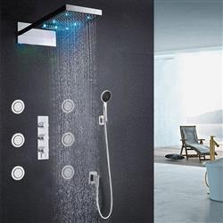 Fontana Warsaw Waterfall & Rainfall LED Shower System