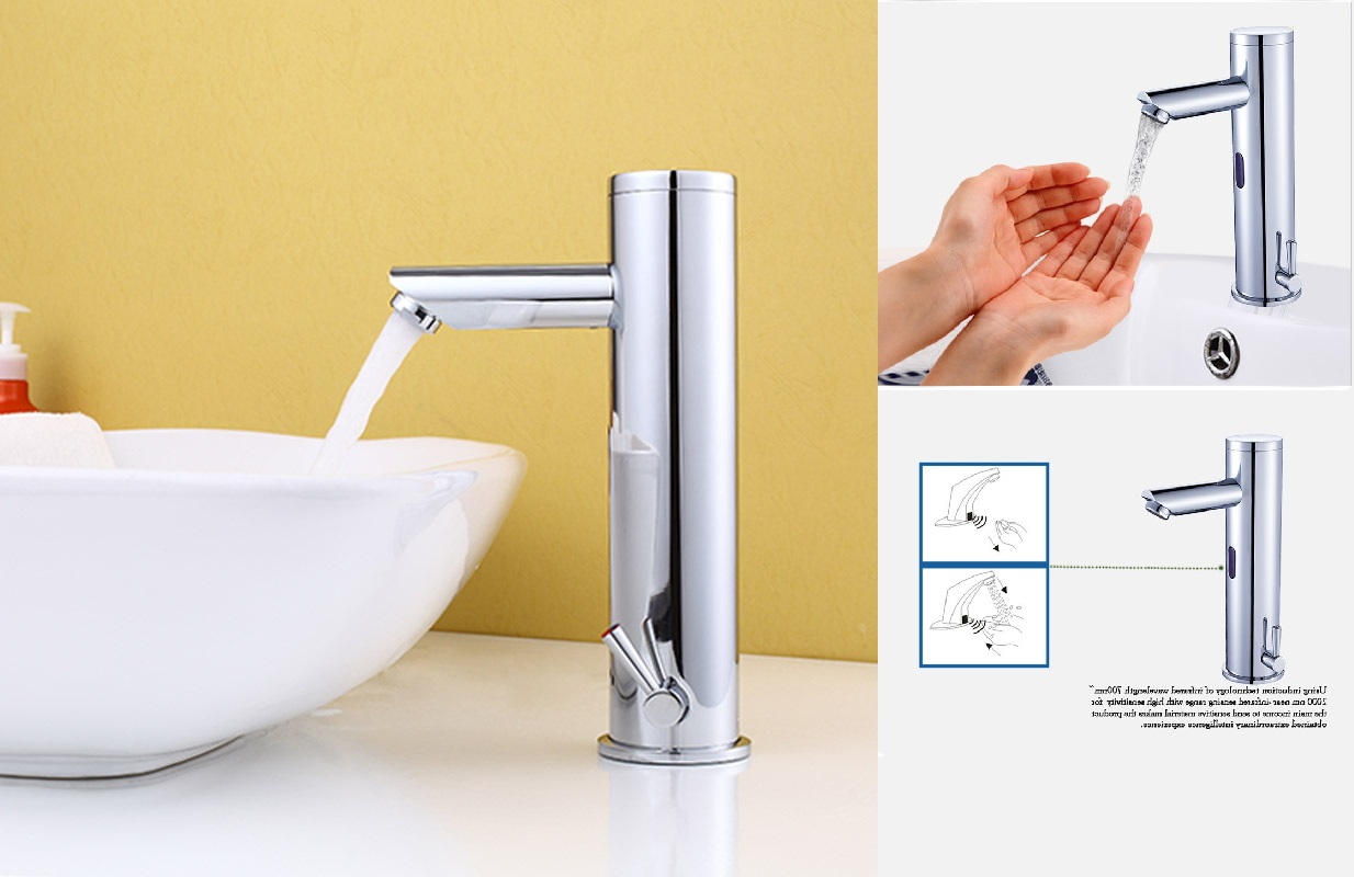 selectronic powered single american chrome sink hole spout cast bathroom polished dc touchless standard p sensor faucets with faucet in