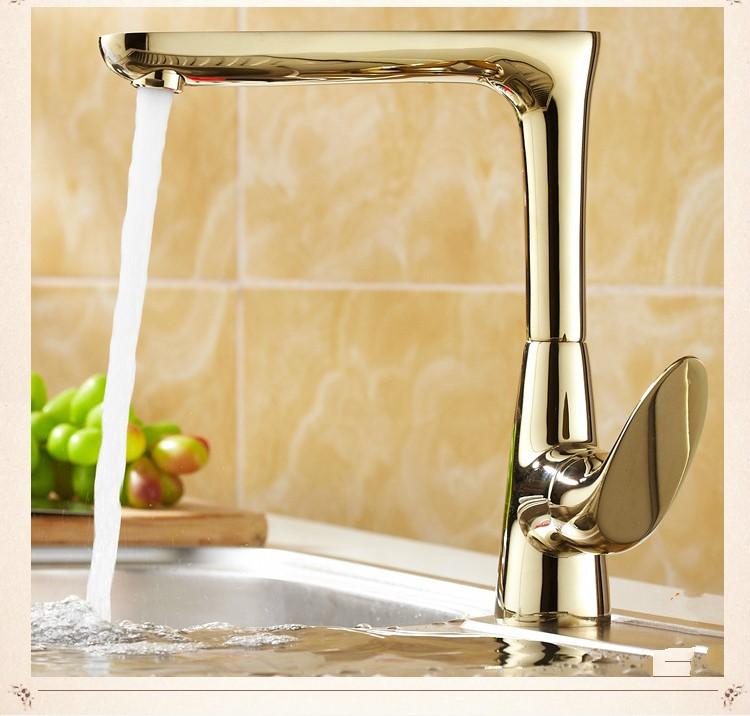 Friuli Antique Copper Single Handle Gold Kitchen Faucet