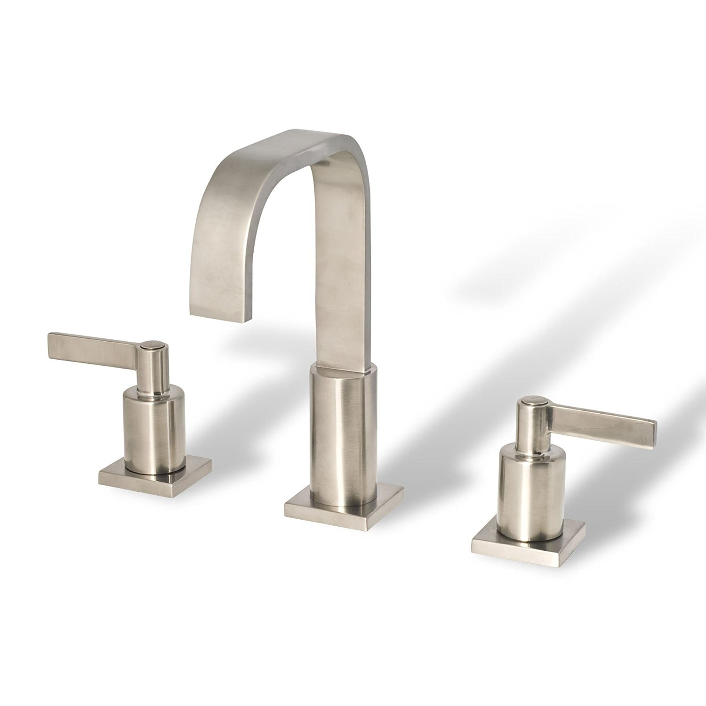 Bathroom Faucets Kelowna brushed nickel deck-mounted bathroom sink faucet