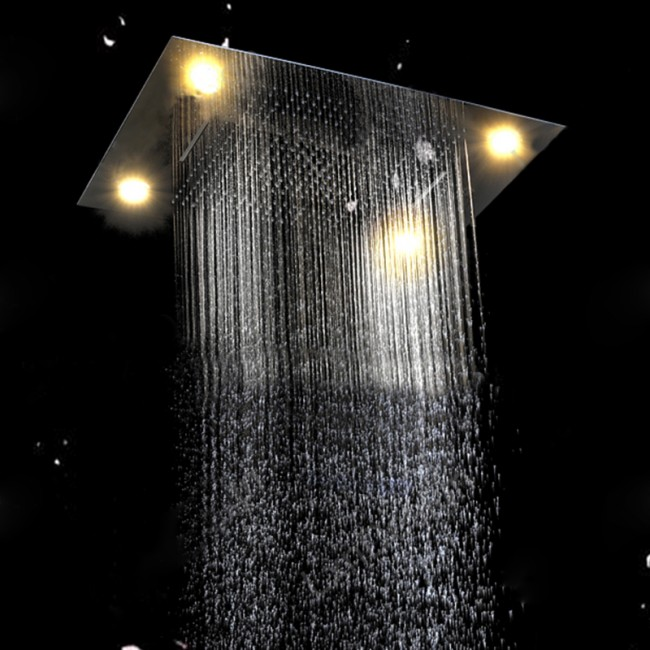 "Livorno Multi Function 23"" by 31"" Ceiling Mount LED Shower Set with Hand Held Shower"