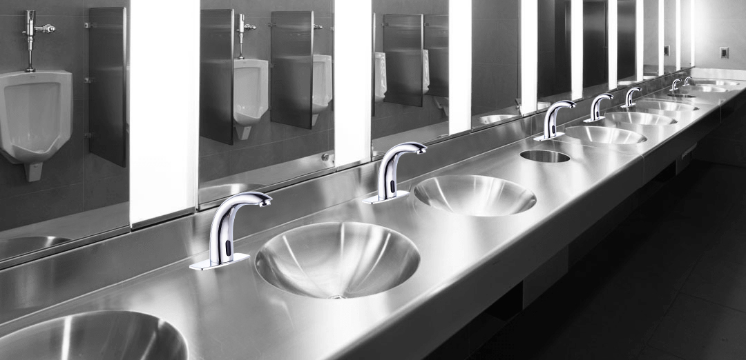 Lano Commercial Automatic Chrome Finish Sensor Faucet