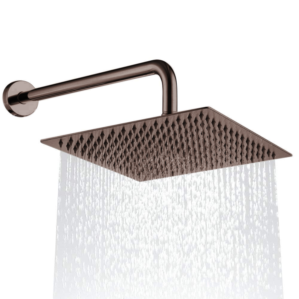 Light Oil Rubbed Bronze Thin Square Rainfall Shower Head