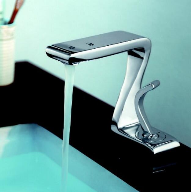 Lombardy Deck Mounted Chrome Single Handle Bathroom Faucet