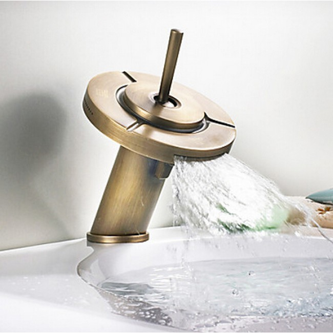 Minoan Triple Function Antique Bathroom Sink Faucet