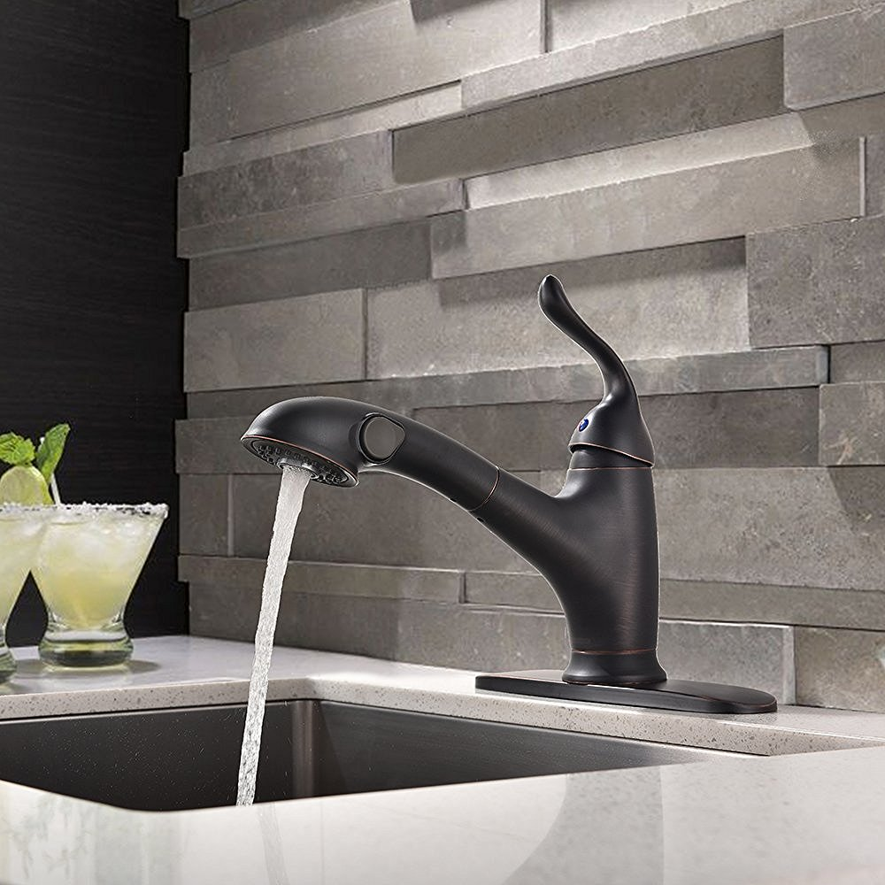 Moa Oil Rubbed Nickel Kitchen Sink Faucet