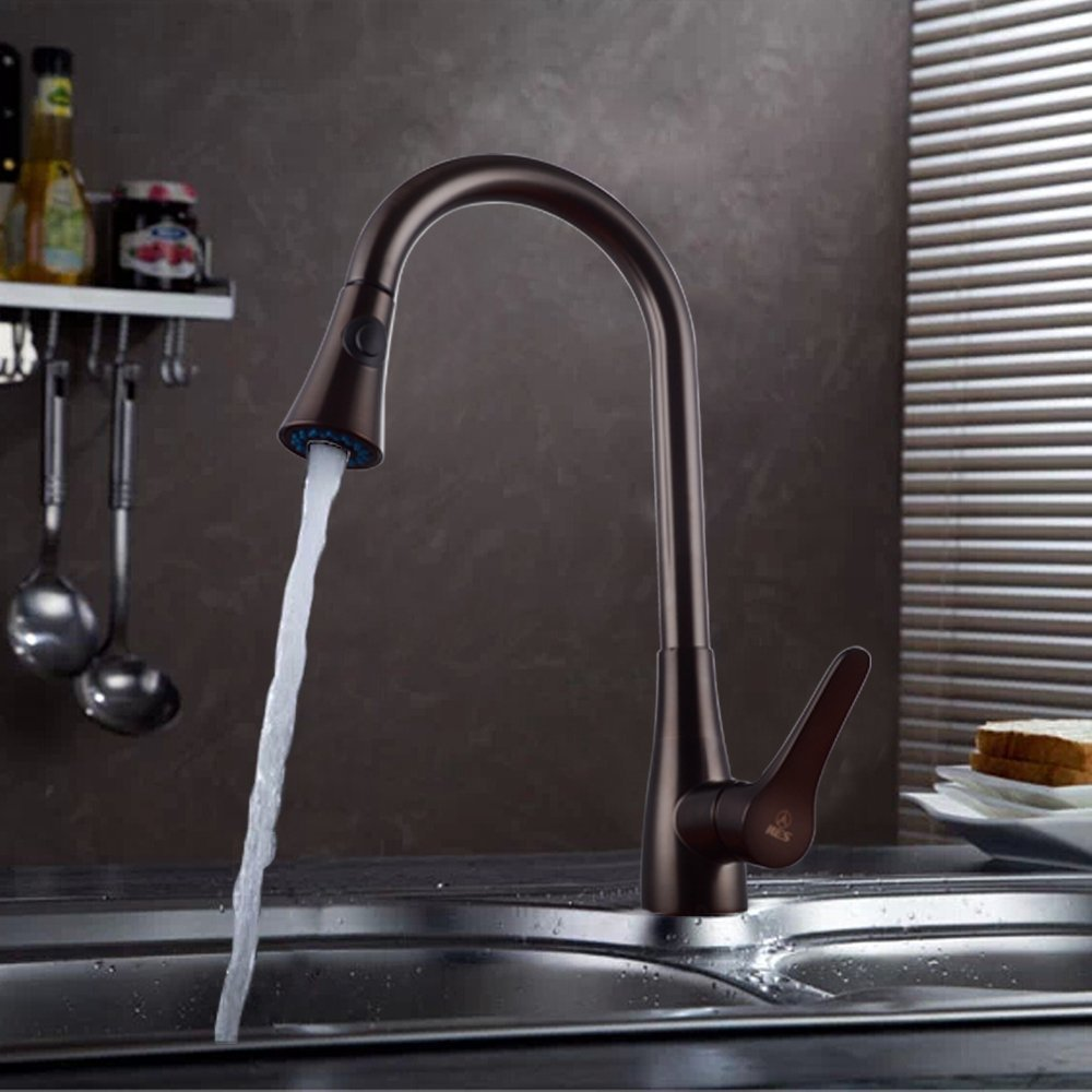 Deck Mount Kitchen Faucet Deck Mounted Kitchen Sink Faucet With Pull Down Sprayer