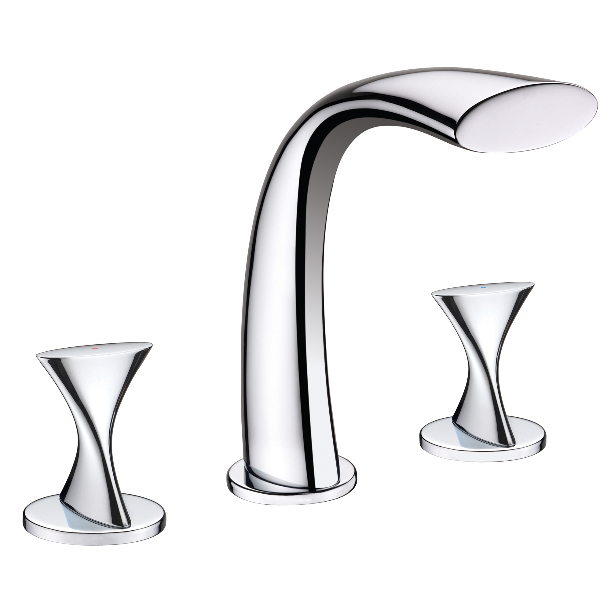 Oceane Chrome Finish Double Handled Bathtub Faucet