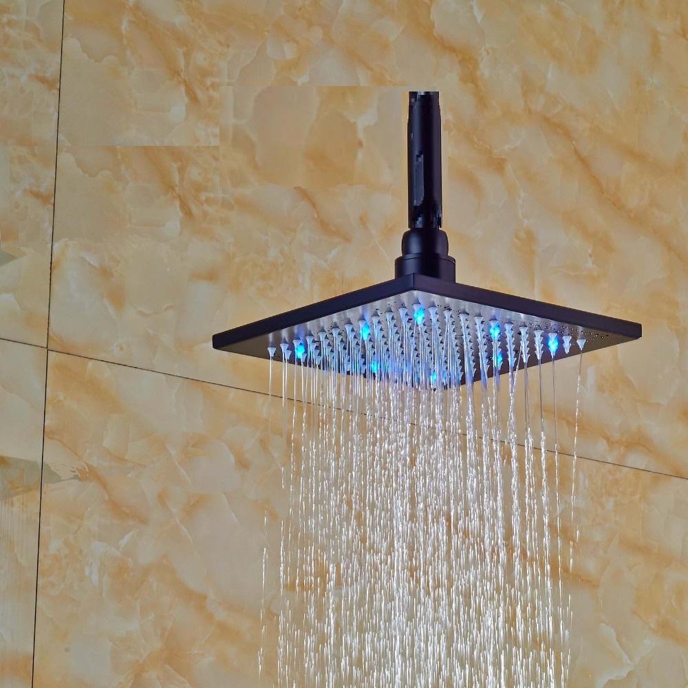 Fontana LED Colors Rain Shower Head Dark Oil Rubbed Bronze Finish