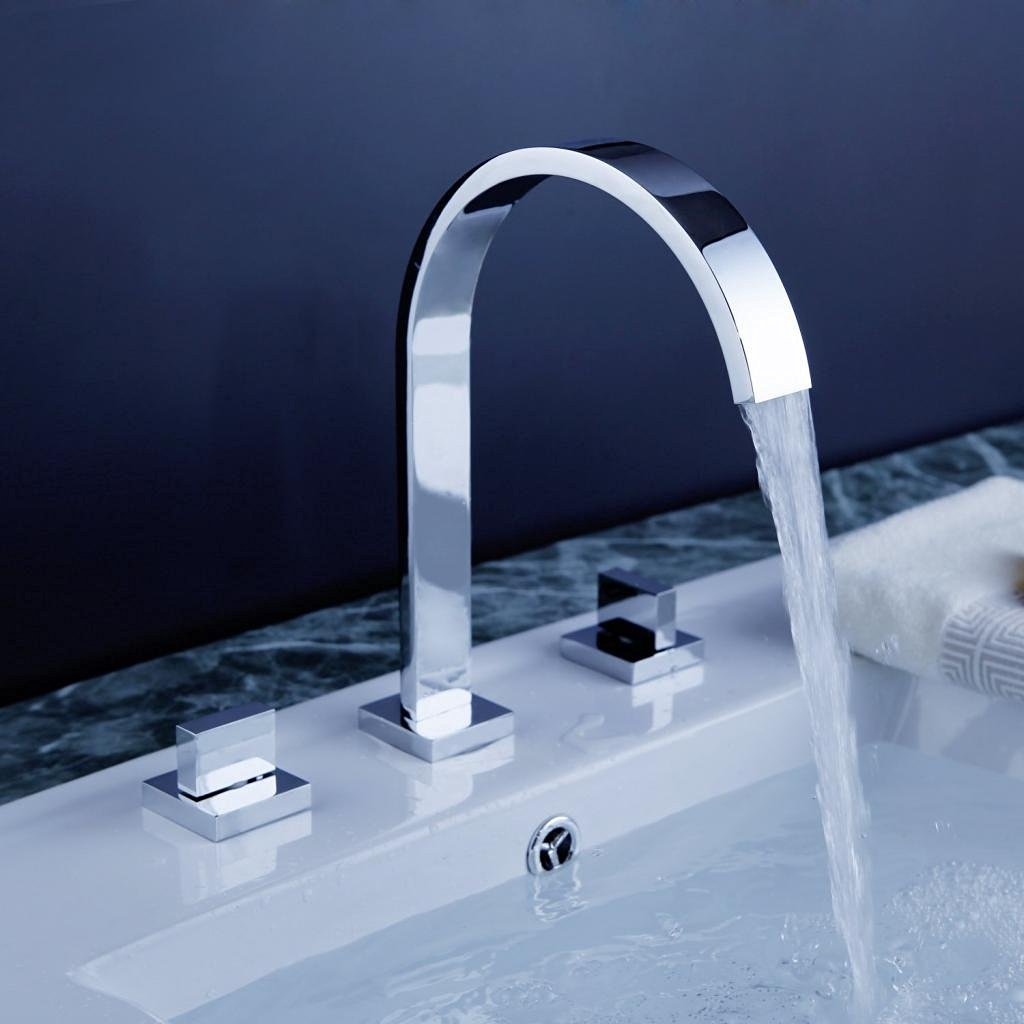 Oran Contemporary Chrome Finish Bathroom Sink Faucet - Discount bathroom sink faucets