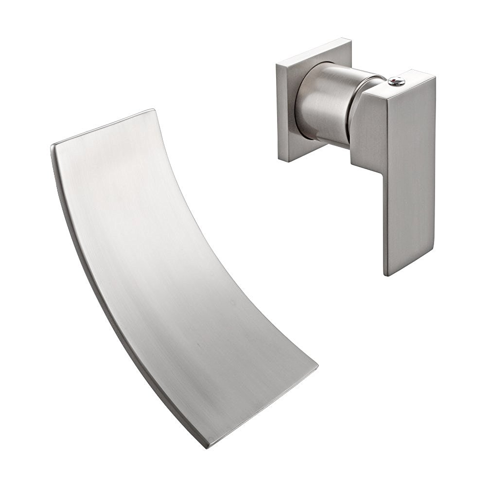 Orotina Wall Mounted Bathroom Sink Faucet with Steel & Brass Body