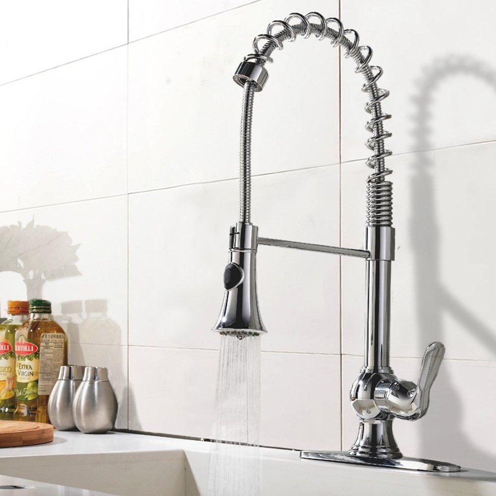 Chrome Kitchen Sink Pampa chrome finish single handle kitchen sink faucet with pull down pampa is a modern kitchen faucet part of our range of sink faucets with pull down sprayer it has a stylish design with chrome finish workwithnaturefo