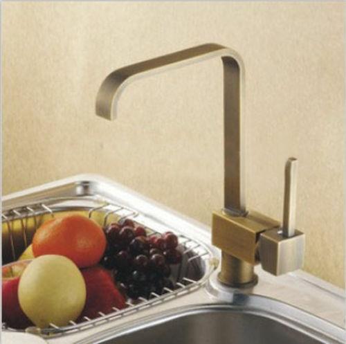 Phoenix Classico Antique Brass Single Handle Kitchen Sink Faucet