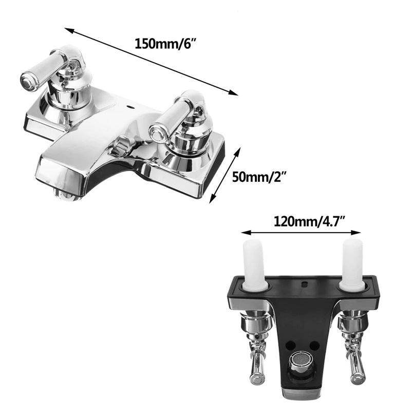 Fontana RV New Travel Dual Handle Faucet Ceramic Valve Chrome