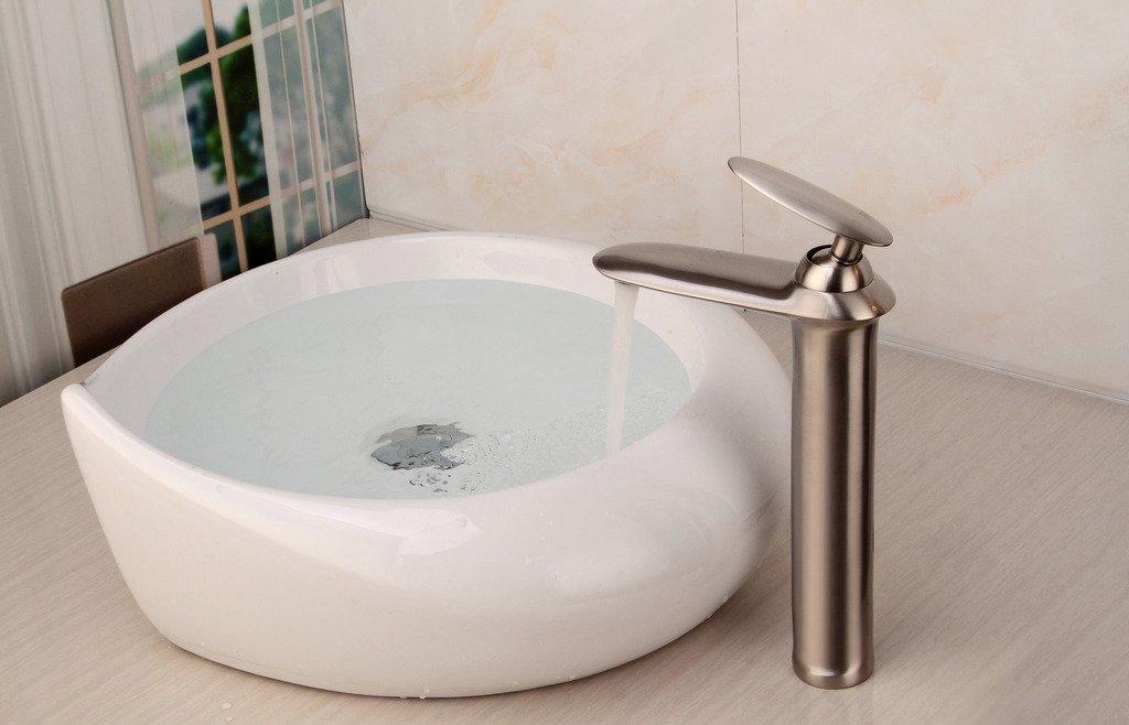 Rhone Brushed Nickel Bathroom Sink Faucet