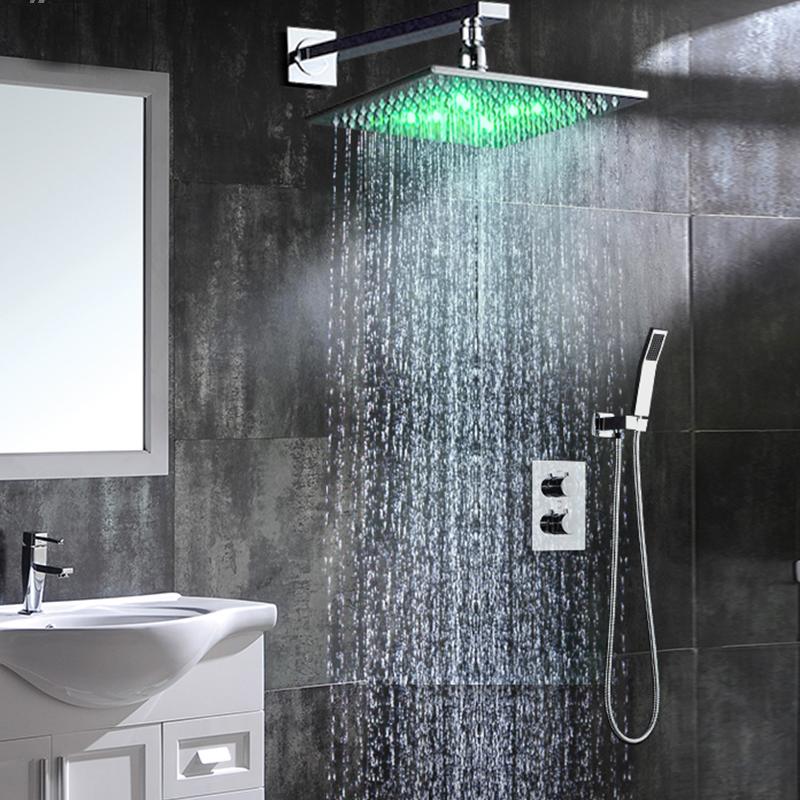 Fontana Sagua Wall Mount LED Shower Set