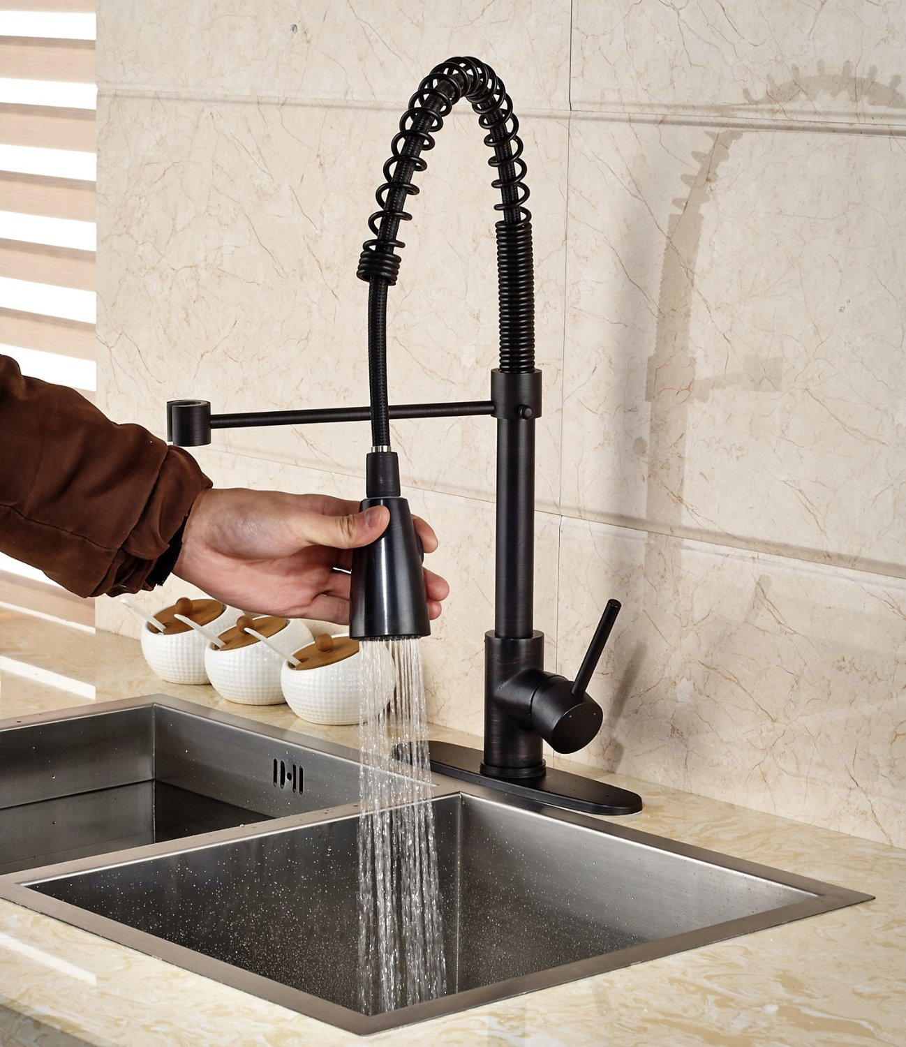 Tindouf Oil Rubbed Bronze Kitchen Sink Faucet Installation Instructions