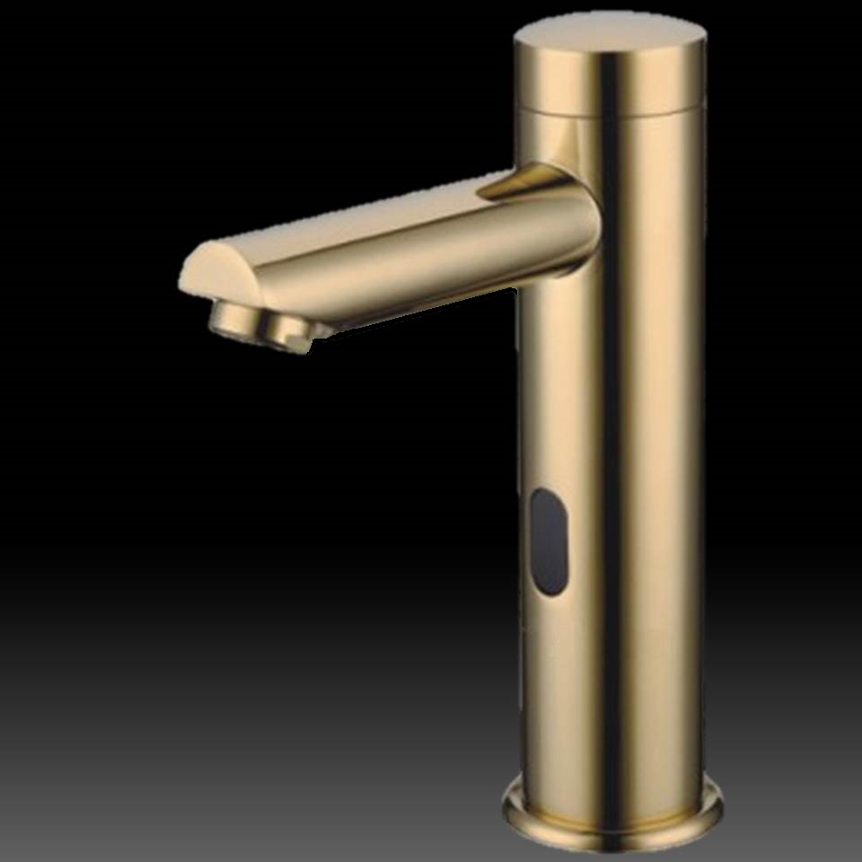 Solo Gold Tone Sensor Faucet - Commercial bathroom faucets touchless