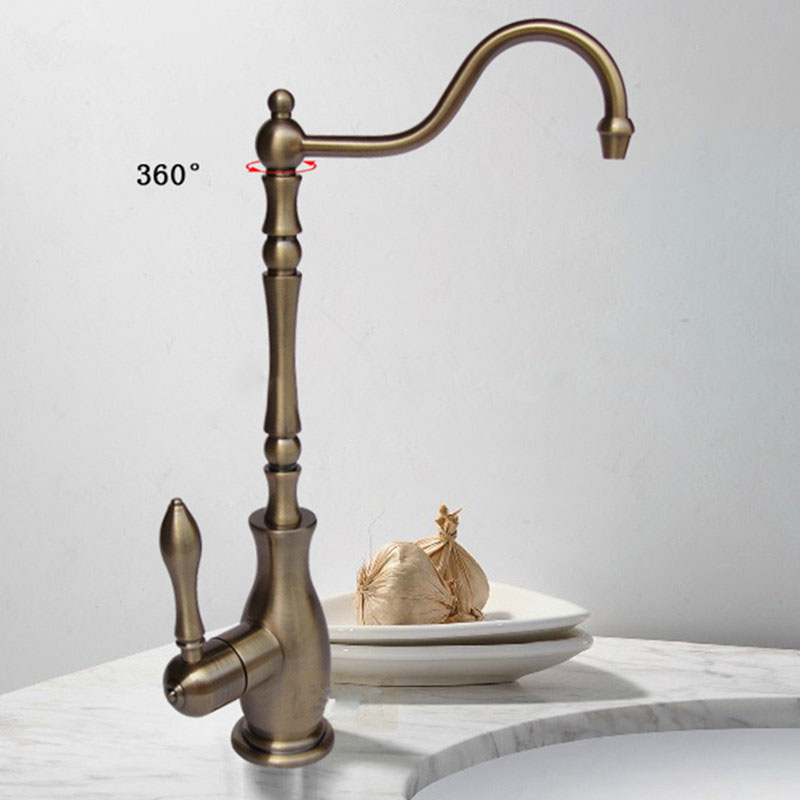 Tuscany Antique Bronze Deck Mount Bathroom Faucet