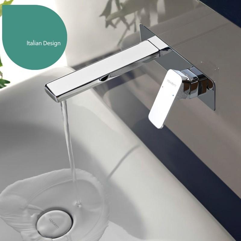 Viola Wall Mounted Chrome Finish Bathroom Sink Faucet