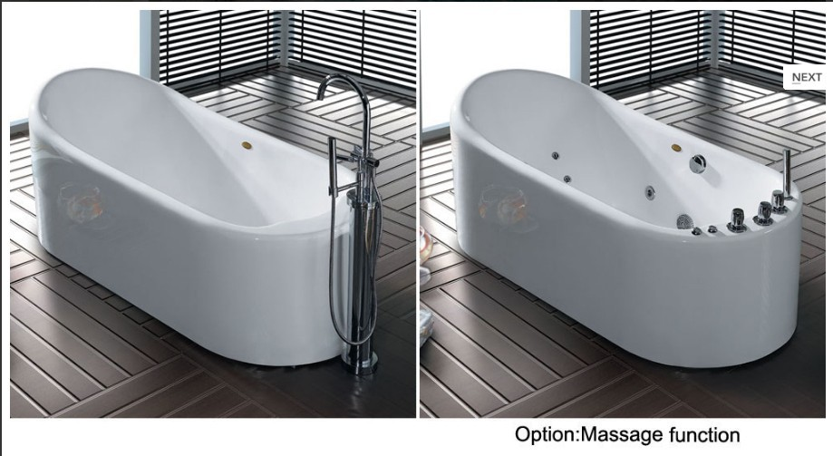 Laroma Bathroom Bathtub Acrylic Bathtub Corner White M Bathtube - Free standing jetted soaking tub