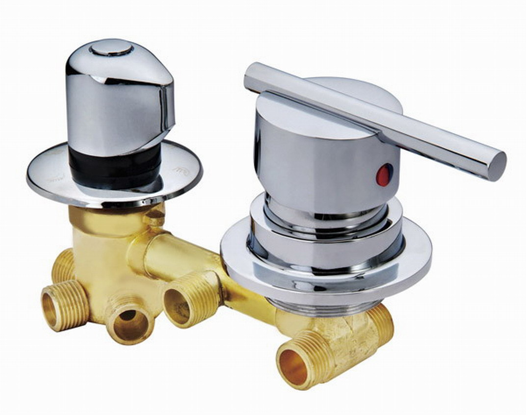 Copper shower mixing valve 2/3/4/5 way water outlet cold and hot ...