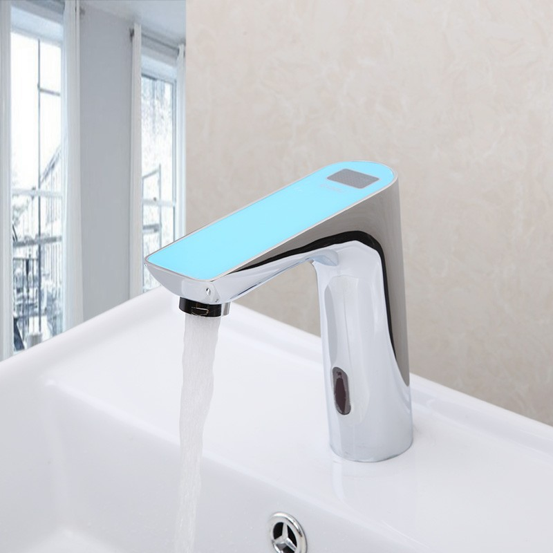 supply commercial activated sensor hole motion battery single faucet faucets delta electronic operated bathroom