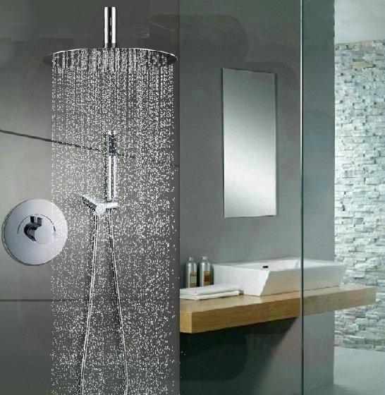 Fontana Lima 2-Way Shower Set - Round Chromed Brass Shower Head