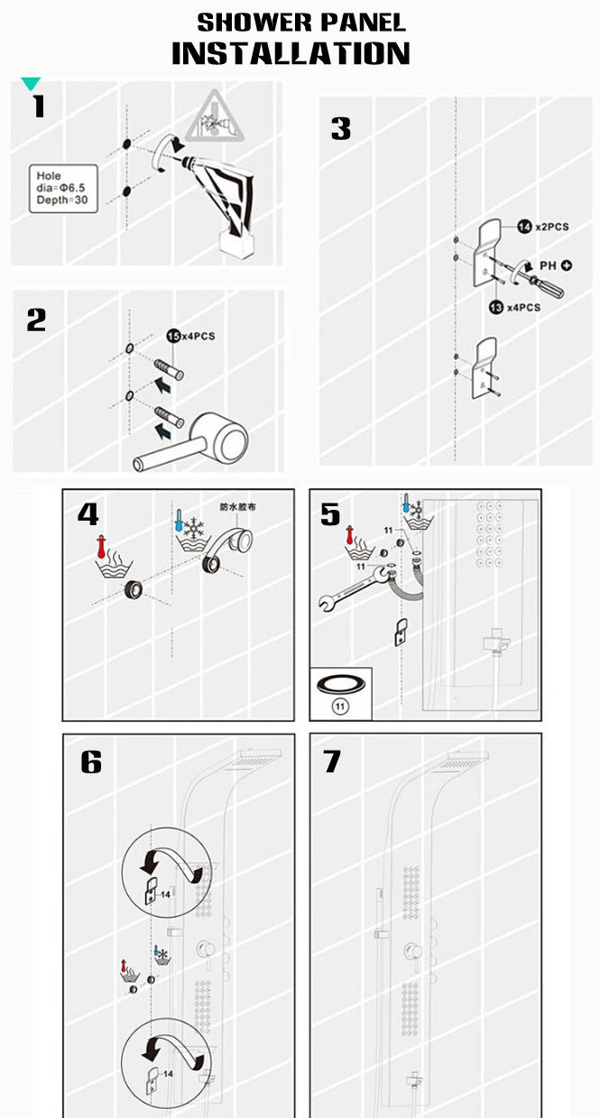Fontana Shower Panel Installation Instructions