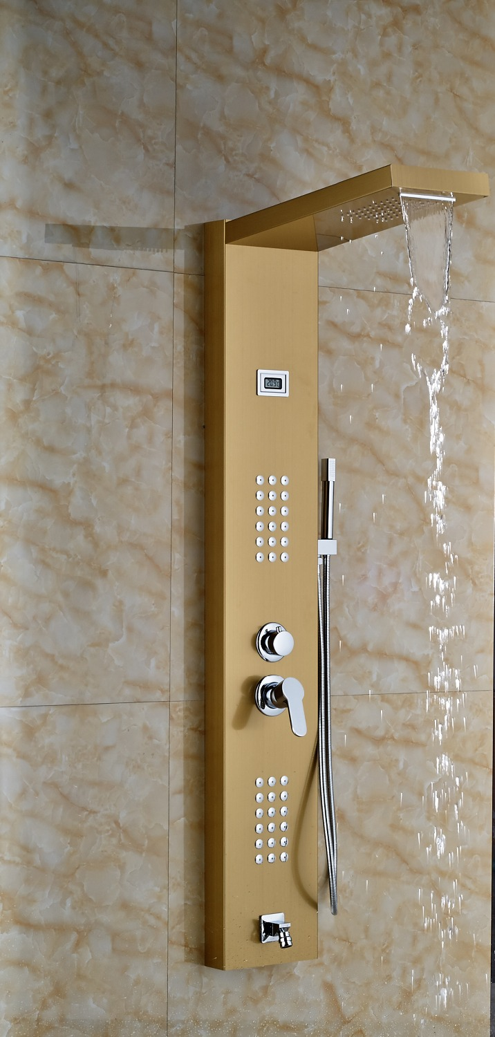 ... Gold Finished Bathroom Shower Set Shower 2water ...