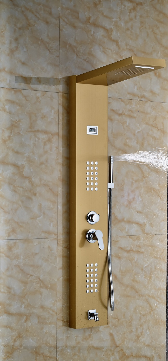gold-finished-bathroom-shower-set-shower-Digital Display-gold