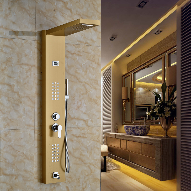 Lenox Digital Display Shower Panel Column With RainFall and ...
