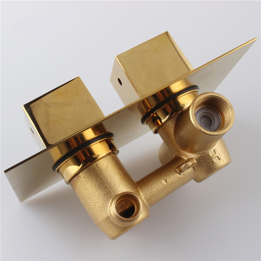 Fontana Gold Solid Brass Concealed Thermostatic Shower Valve Mixer ...