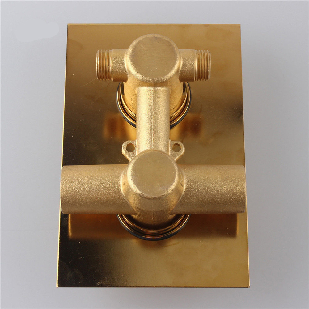 Fontana Gold Solid Brass Concealed Thermostatic Shower