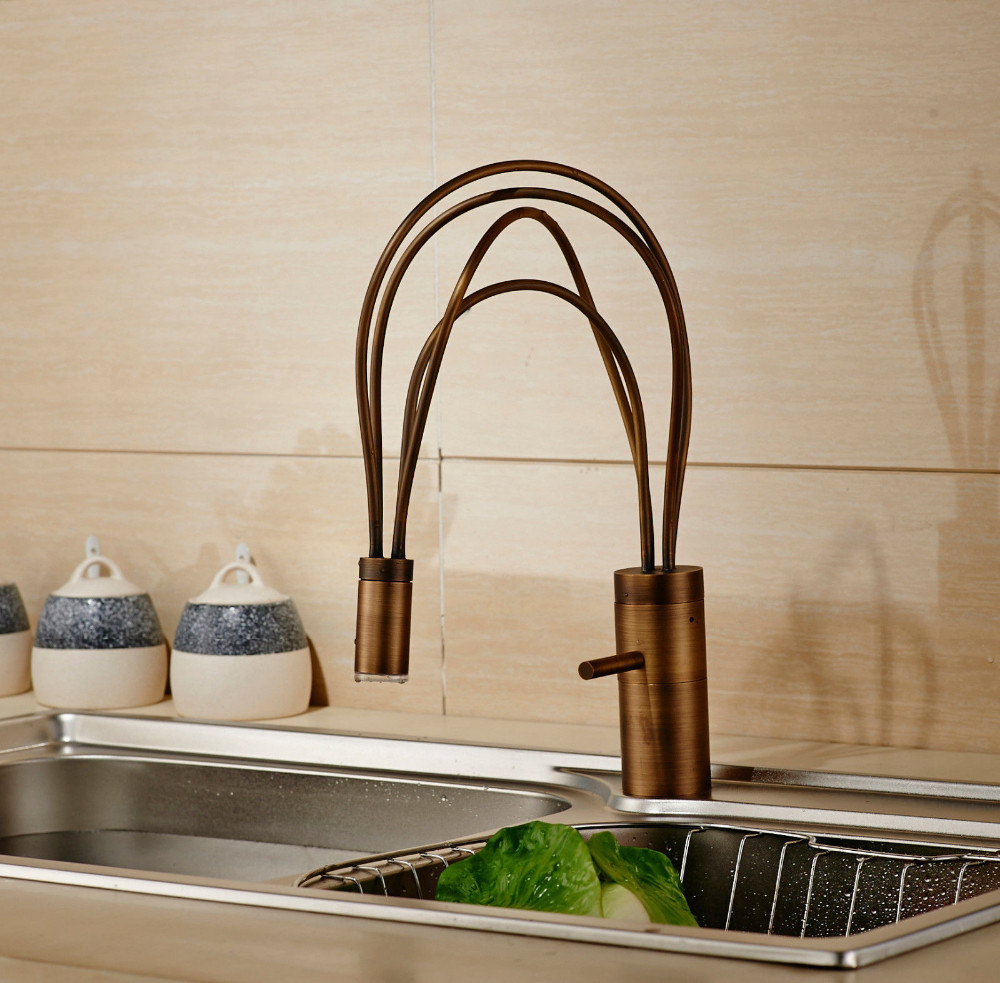 kitchen-mixer-faucet-lever-brass