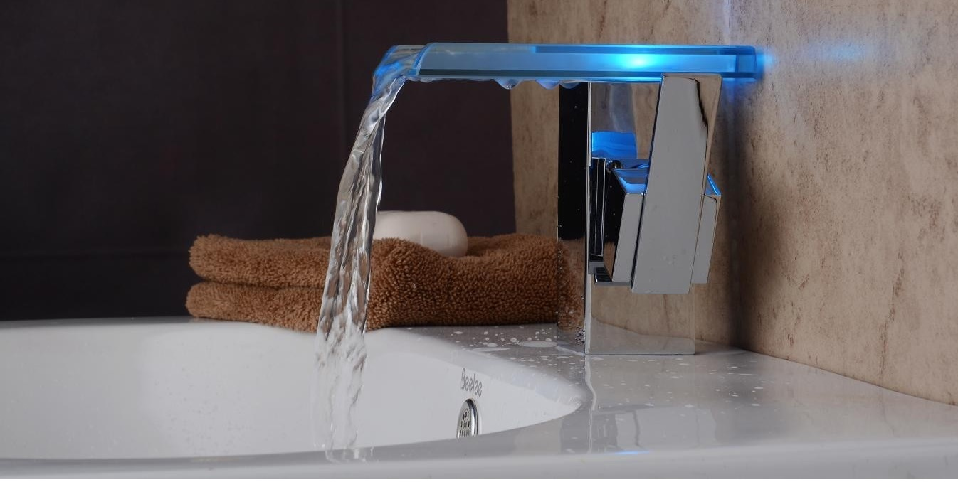 u sensor temperature water sensing light home waterfall kitchen led tap ishop products homey faucet