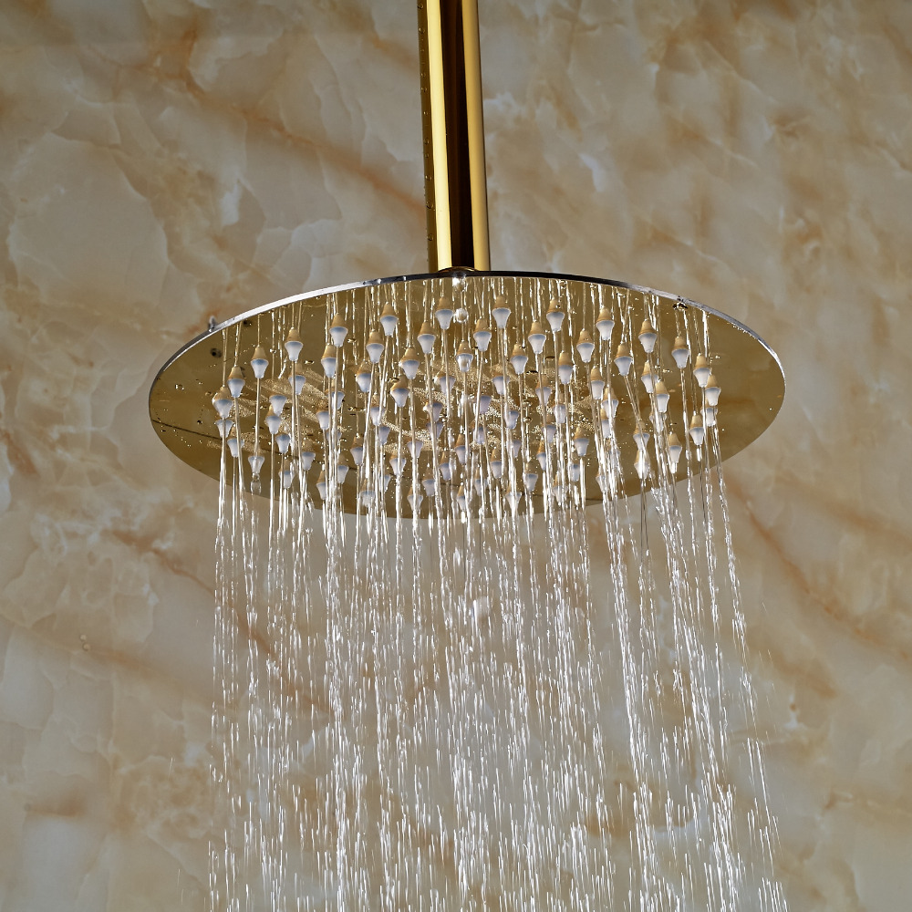 Fontana Polished Gold Finish 10 Quot Round Rain Shower Head