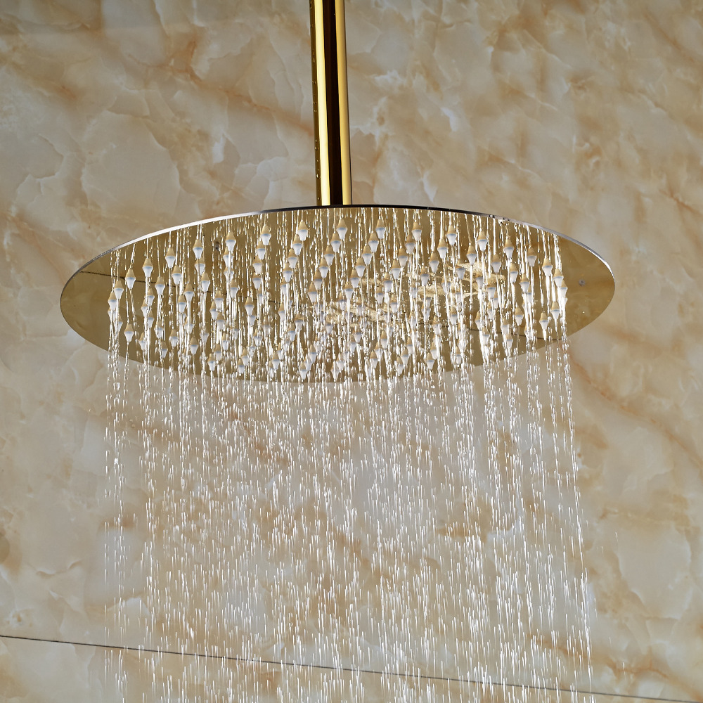 Polished Golden Finish 10inch Round Rain Shower