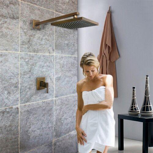 Fontana Rivera LED Rain Shower Head with Copper Finish