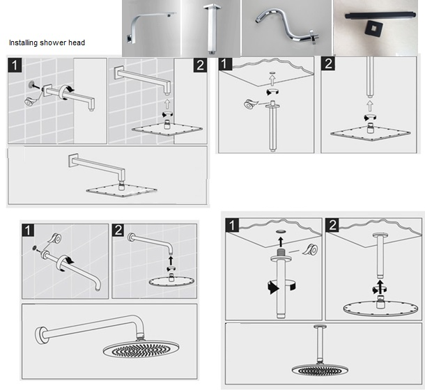 Fontana Shower Arm For Led Head Installation Instructions