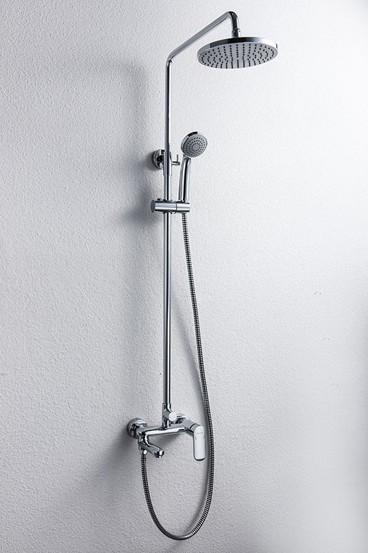 ... Shower Set Three Mounted Shower Bar Bath ...