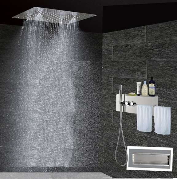 Lenox Modern Wall Mounted Thermostatic Shower Set