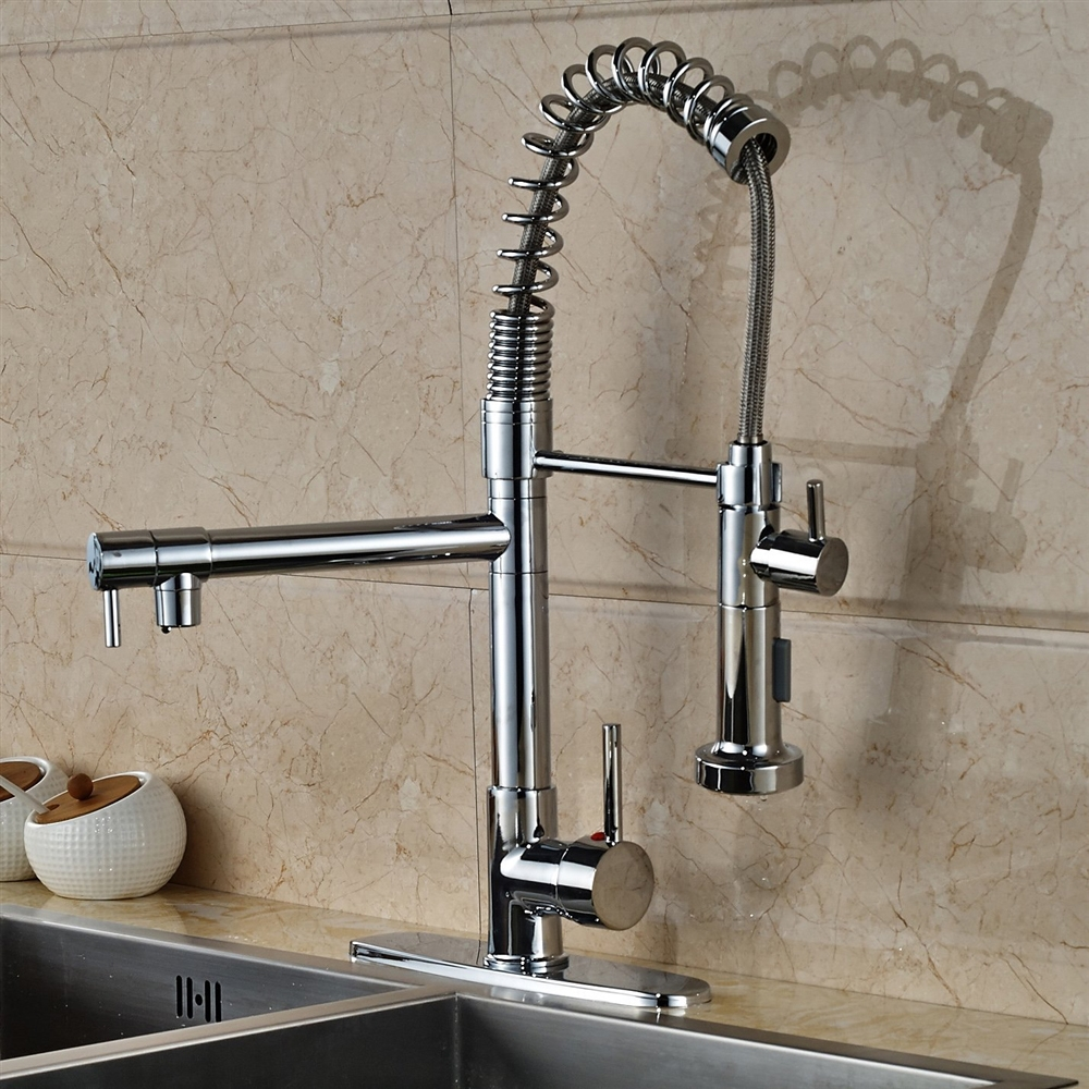 Calvados single handle deck mounted kitchen sink faucet workwithnaturefo