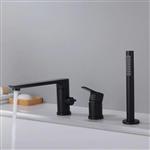 Fontana Jonesboro Deck Mounted Bathtub Faucet Mixer with Hand Shower Set