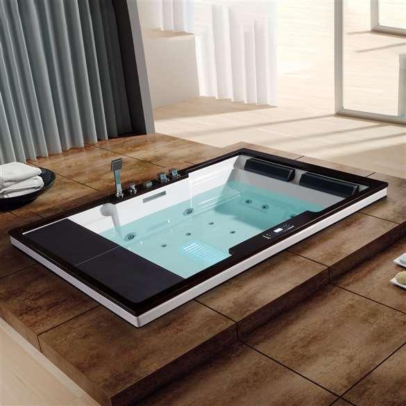 Whirlpool Recessed Massage Bathtub Pure Acrylic Bathtub